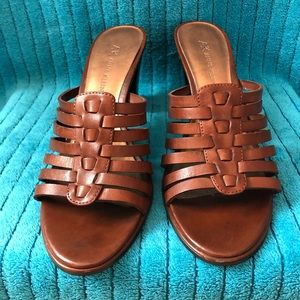 Beautiful Anne Klein brown sandals